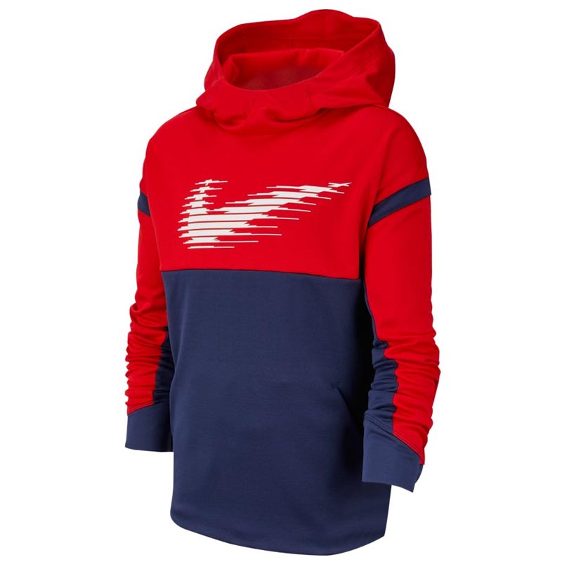 new product 20793 67646 Nike Therma GFX Pullover Hoodie Red/ Navy BV3785-657 (Youth)