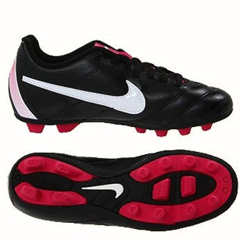 Nike JR Tiempo Rio FG Black / Fireberry 509035-016 (Youth)
