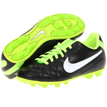 Nike JR Tiempo Rio FG Black / Fireberry 509035-016 (Youth)