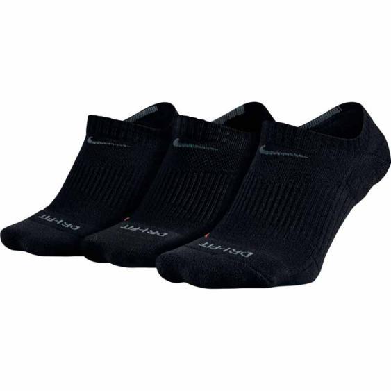 Nike 3PK DF Half Cushion No Show Black SX4834-001 (Adult)
