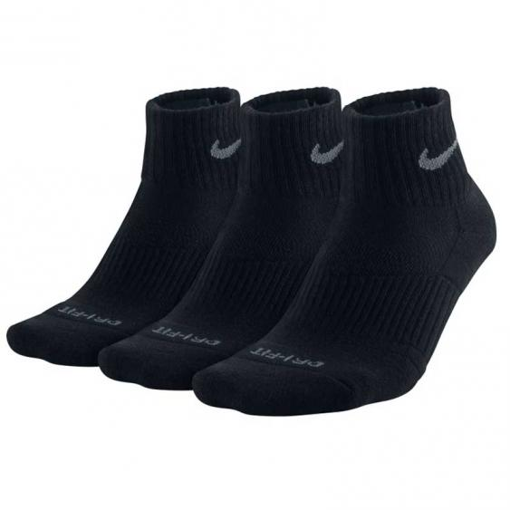 Nike 3PK DF Cushion QTR Black SX4835-001 (Adult)