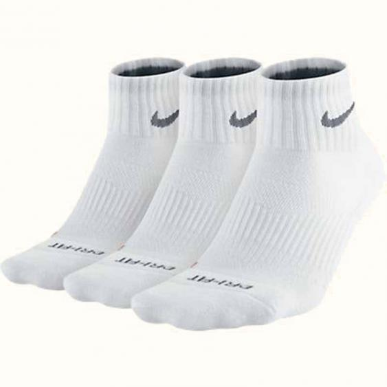 Nike 3PK DF Cushion QTR White SX4835-101 (Adult)