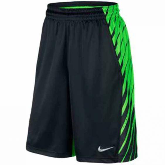 Nike Elite Powerup Short Black / Green Strike 678464-037 (Youth)