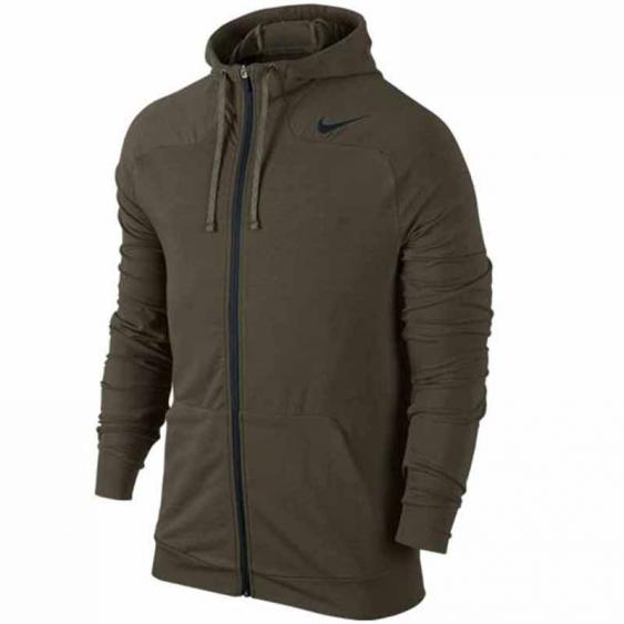 Nike DF Touch Fleece FZ Hoodie Cargo Khaki 644293-325 (Men's)