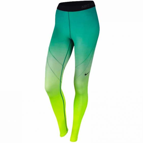 Nike Pro Hyperwarm Tight Volt / Rio Teal 803096-702 (Women's)