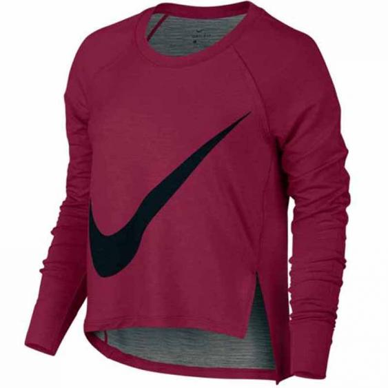 Nike Dry Top LS Noble Red / Black 804666-620 (Women's)