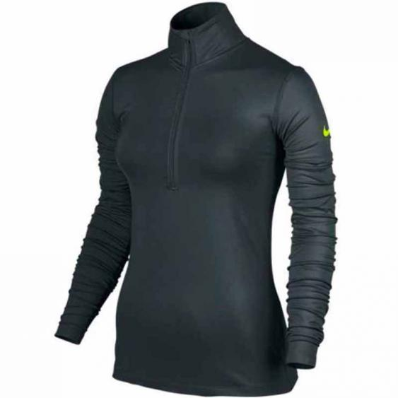Nike Pro Warm Top Seaweed / Volt 803145-364 (Women's)