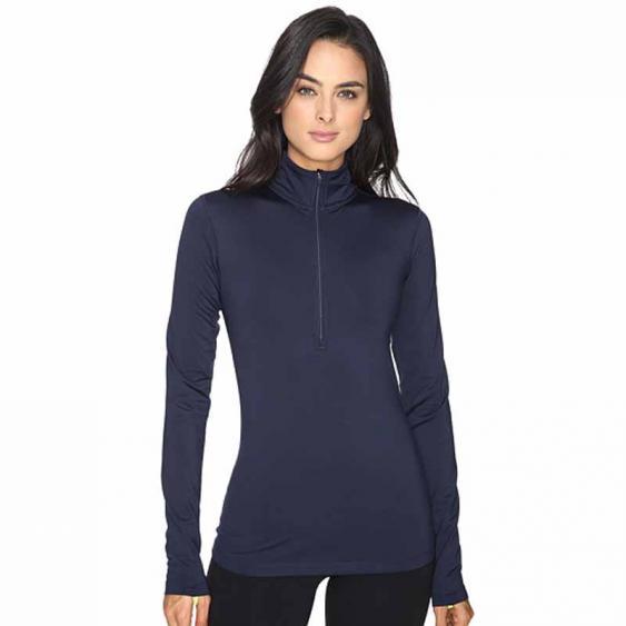 Nike Pro Warm Half Zip Obsidian / Volt 803145-451 (Women's)