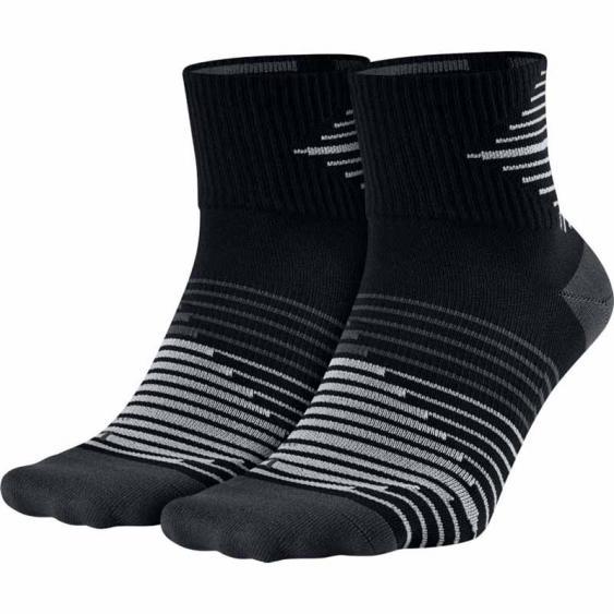 Nike Lightweight QTR Run Sock 2PK Black SX5198-010