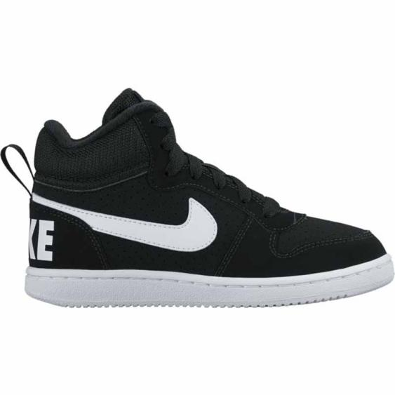 Nike Court Borough Mid PS Black / White 839978-004 (Kids)