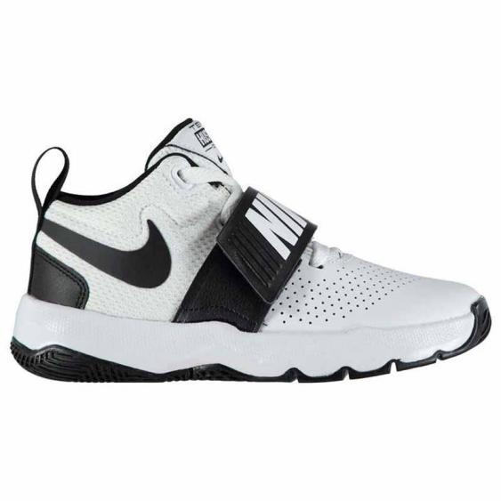 Nike Team Hustle D 8 White / Black 881942-100 (Kids)