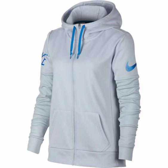 Nike Therma Training Hoodie Platinum / Blue 857565-043 (Women's)