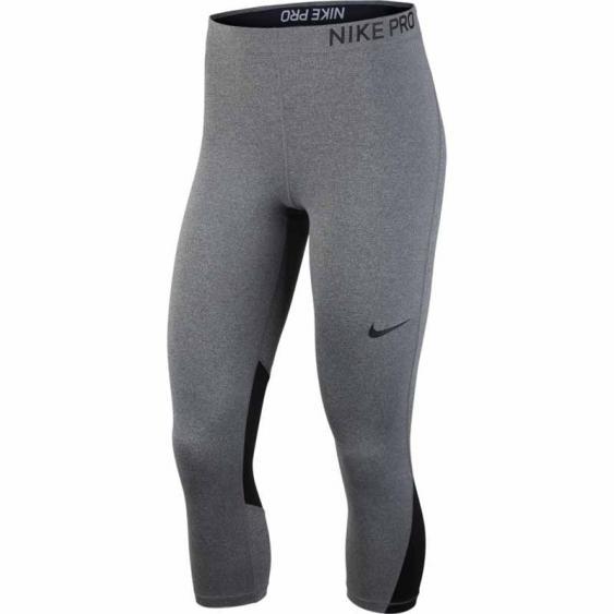 Nike Pro Capri Charcoal Heather 889567-071 (Women's)