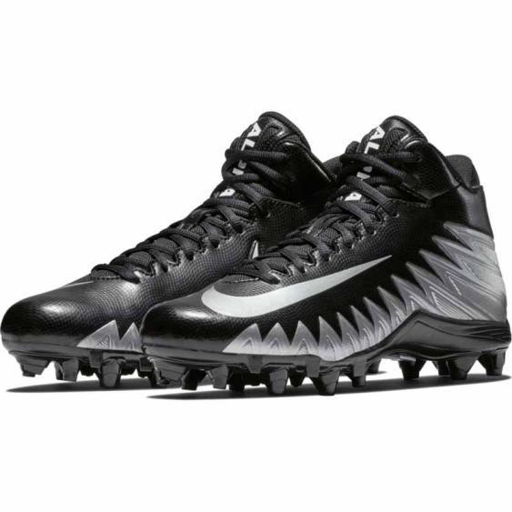 Nike Alpha Menace Varsity Mid Black / Silver 880137-001 (Men's)