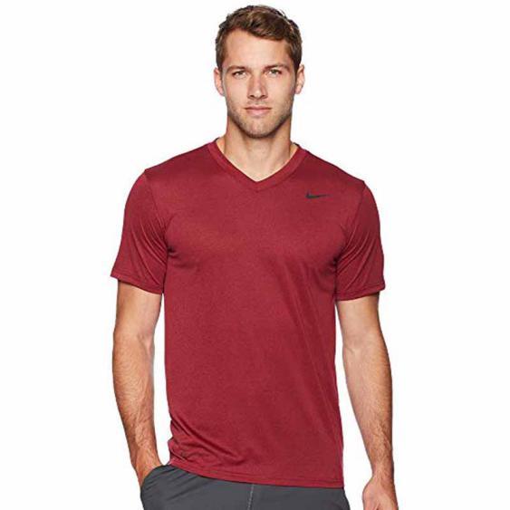 Nike Dry Legend SS VNeck Tee 2.0 Burgundy / Red 718839-654 (Men's)