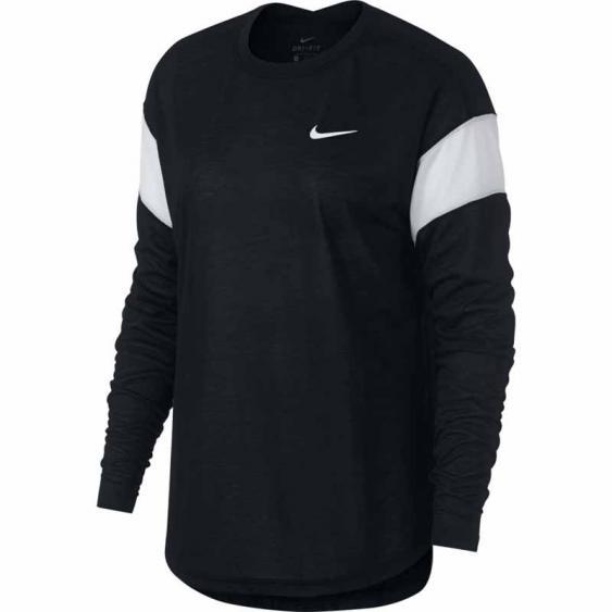 Nike Dry Crew LS Fam Top Black / White 930285-010 (Women's)