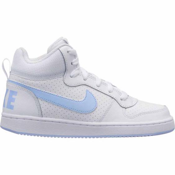 Nike Court Borough Mid White / Royal 845107-103 (Youth)