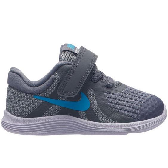 Nike Revolution 4 Grey/ Blue 943304-014 (Infant)