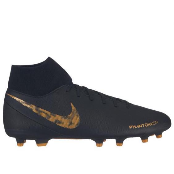 Nike Phantom Vision Club FG/MG Black/ Vivid Gold AJ6959-077 (Men's)