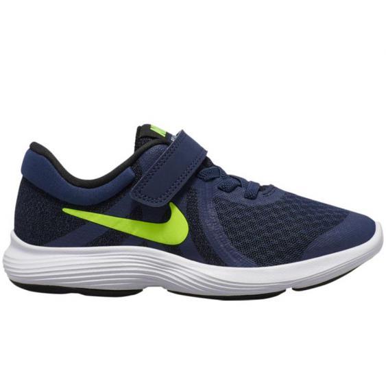 Nike Revolution 4 Midnight Navy/ Volt 943305-402 (Kid's)