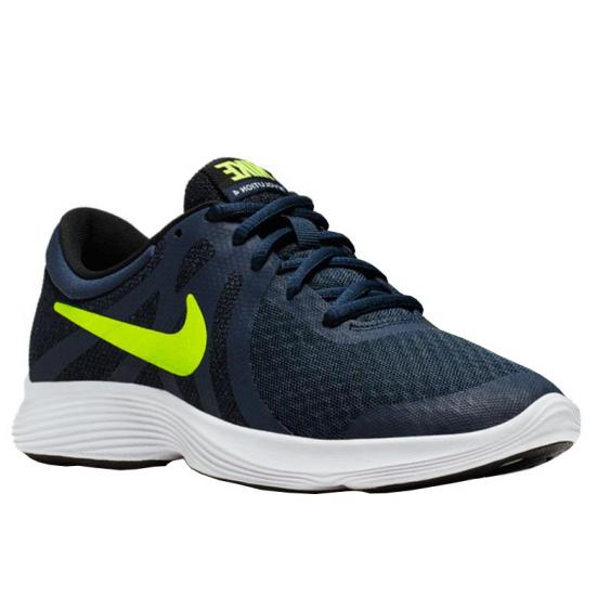 Nike Revolution 4 Midnight Navy/ Volt 943309-402 (Youth)