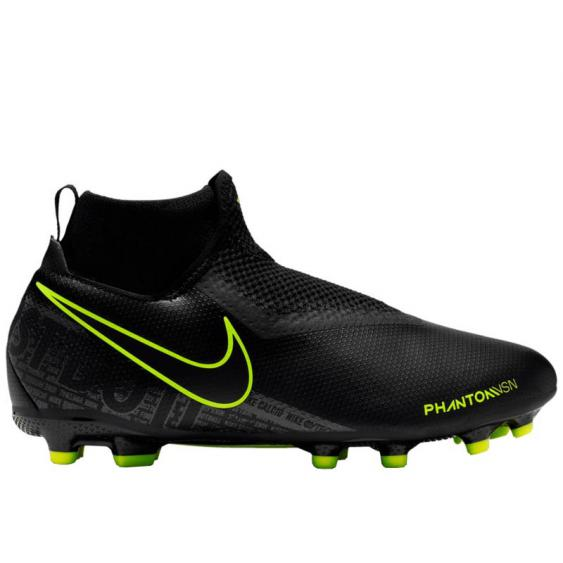 Nike JR Phantom VSN Academy DF FG/MG Black/ Volt AO3287-007 (Youth)