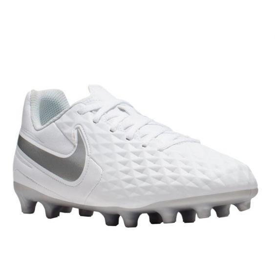 Nike Legend 8 Club FG/MG White/ Chrome/ Grey AT5881-100 (Youth)