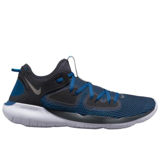 Nike Flex RN 2019 Off Noir/ Metallic Pewter/ Blue AQ7483-006 (Men's)