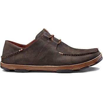 OluKai Ohana Lace-Up Dark Wood / Toffee 10171-6333 (Men's)