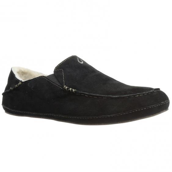 OluKai Moloa Slipper Black 10252-4040 (Men's)