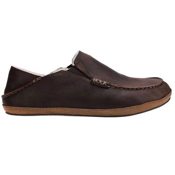 OluKai Moloa Slipper Toffee/ Dark Wood 10252-3363 (Men's)