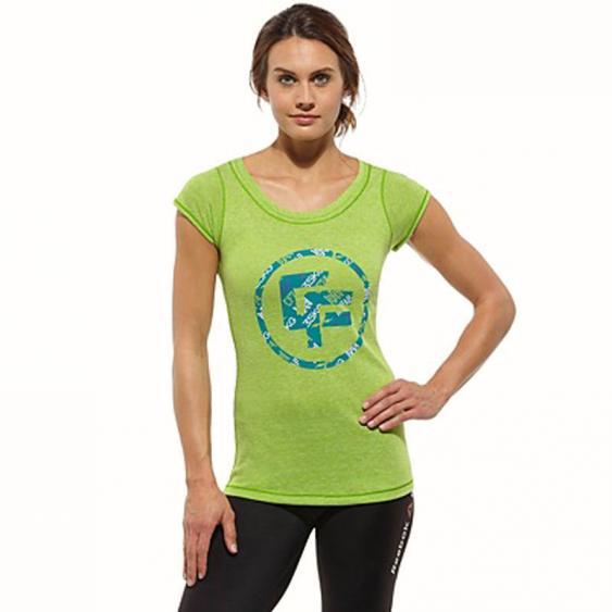Reebok CrossFit TriBlend Tee Smash Green Z88125 (Women's)