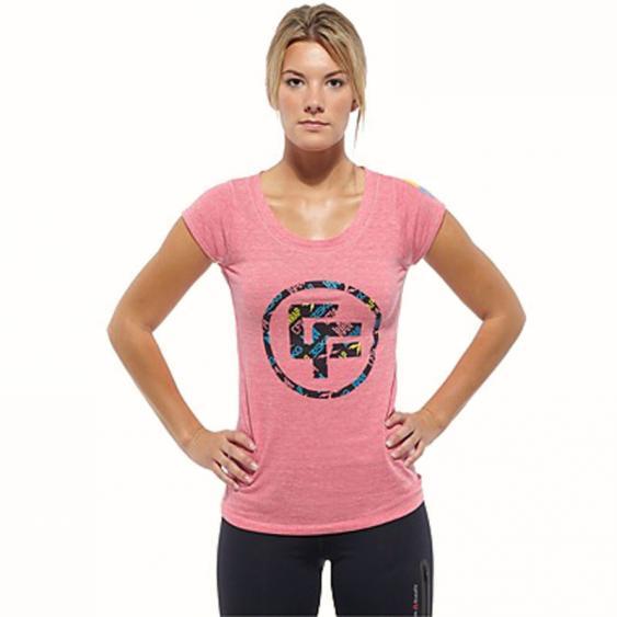 Reebok CrossFit TriBlend Tee Pink Fusion Z88126 (Women's)