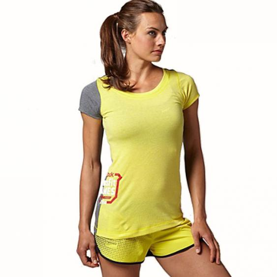 Reebok CrossFit TriBlend Tee Stinger Yellow B82410 (Women's)