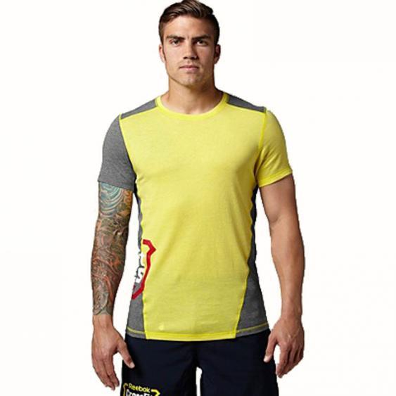 Reebok CrossFit TriBlend Tee Stinger Yellow B84226 (Men's)