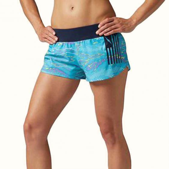 Reebok CrossFit Knit Woven Short Neon Blue B86789 (Women's)