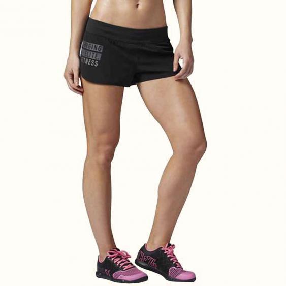 Reebok CrossFit Knit Woven Short Black AA1679 (Women's)