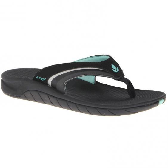 Reef Slap 3 Black / Aqua 1084-BKQ (Women's)