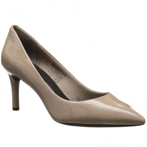 Rockport Pointy Toe Pump Warm Taupe A11798 (Women's)
