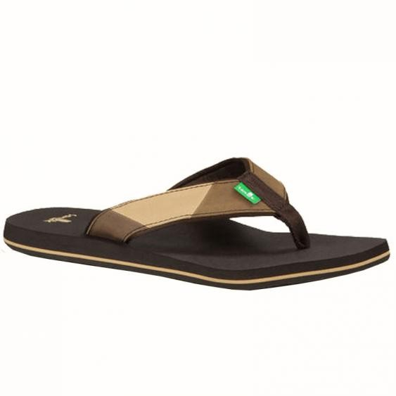 Sanuk Block Party Dark Brown / Brown SMS10047-DBBR (Men's)