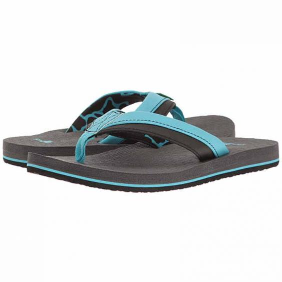 Sanuk Rootbeer Cozy Light Aqua / Black SBS10680-ABC (Youth)
