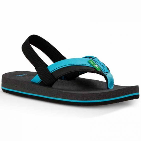 Sanuk Rootbeer Cozy Light Aqua / Black SBS10680K-ABC (Kids)