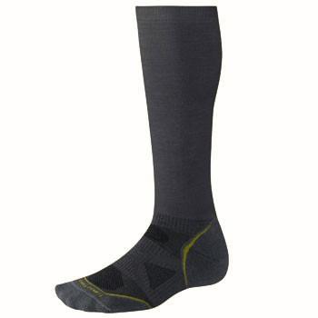Smartwool PhD Run Graduated Comp Socks Light Graphite SW057-018