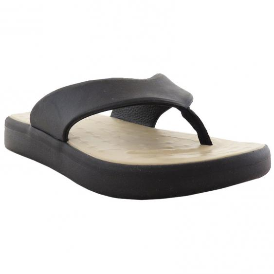 SoftScience The Skiff Flip Flop Black / Khaki (Women's)