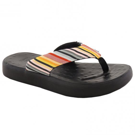 SoftScience The Skiff Flip Flop Label Stripe/ Black (Women's)