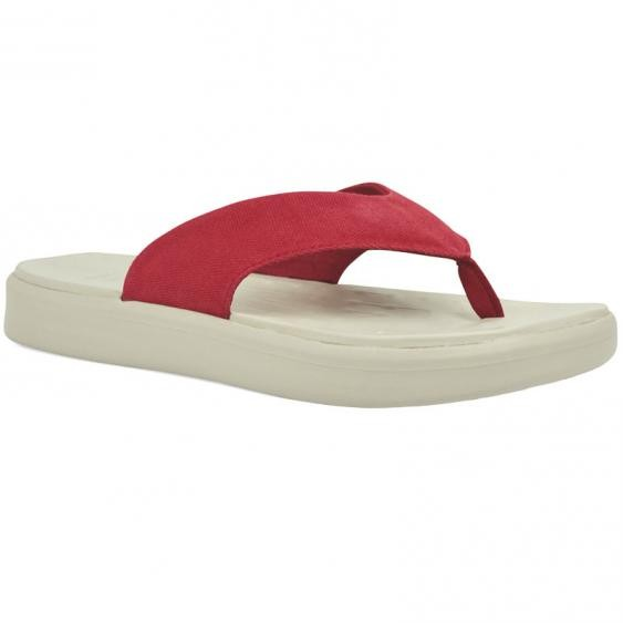 SoftScience The Skiff Flip Flop Red Canvas (Women's)