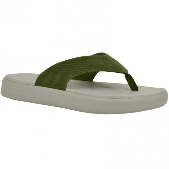 SoftScience The Skiff Flip Flop Sage Canvas (Women's)