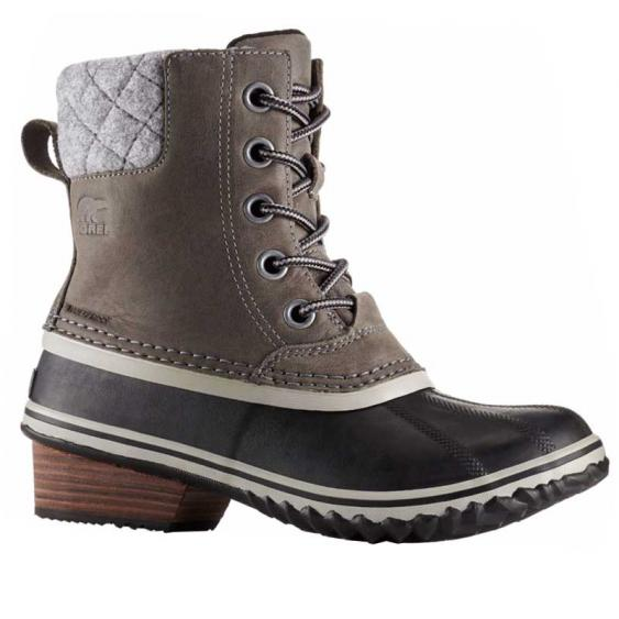 Sorel Slimpack II Lace Quarry/ Black 1702251-052 (Women's)