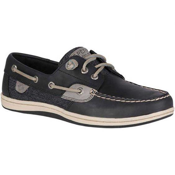 Sperry Songfish Two-Tone Canvas Black STS99621 (Women's)