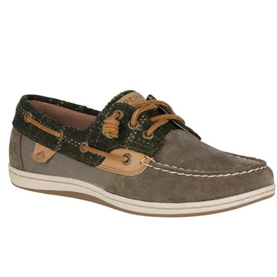 Sperry Songfish Suede Wool Olive STS99624 (Women's)